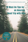 Winding road with 10 tips for road trip with kids