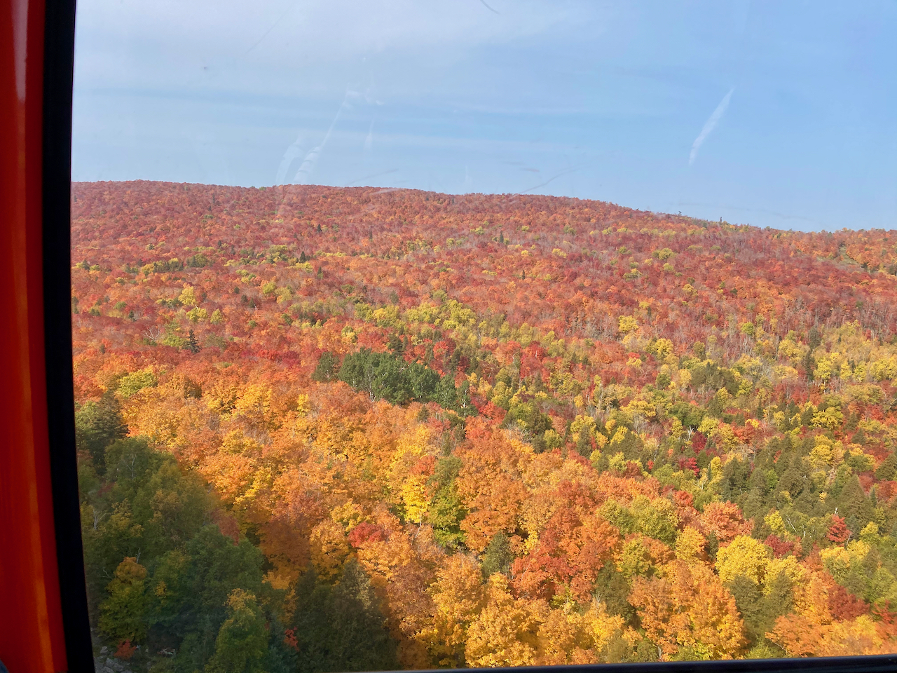 Fall Leaf Color View from Lutsen Gondola