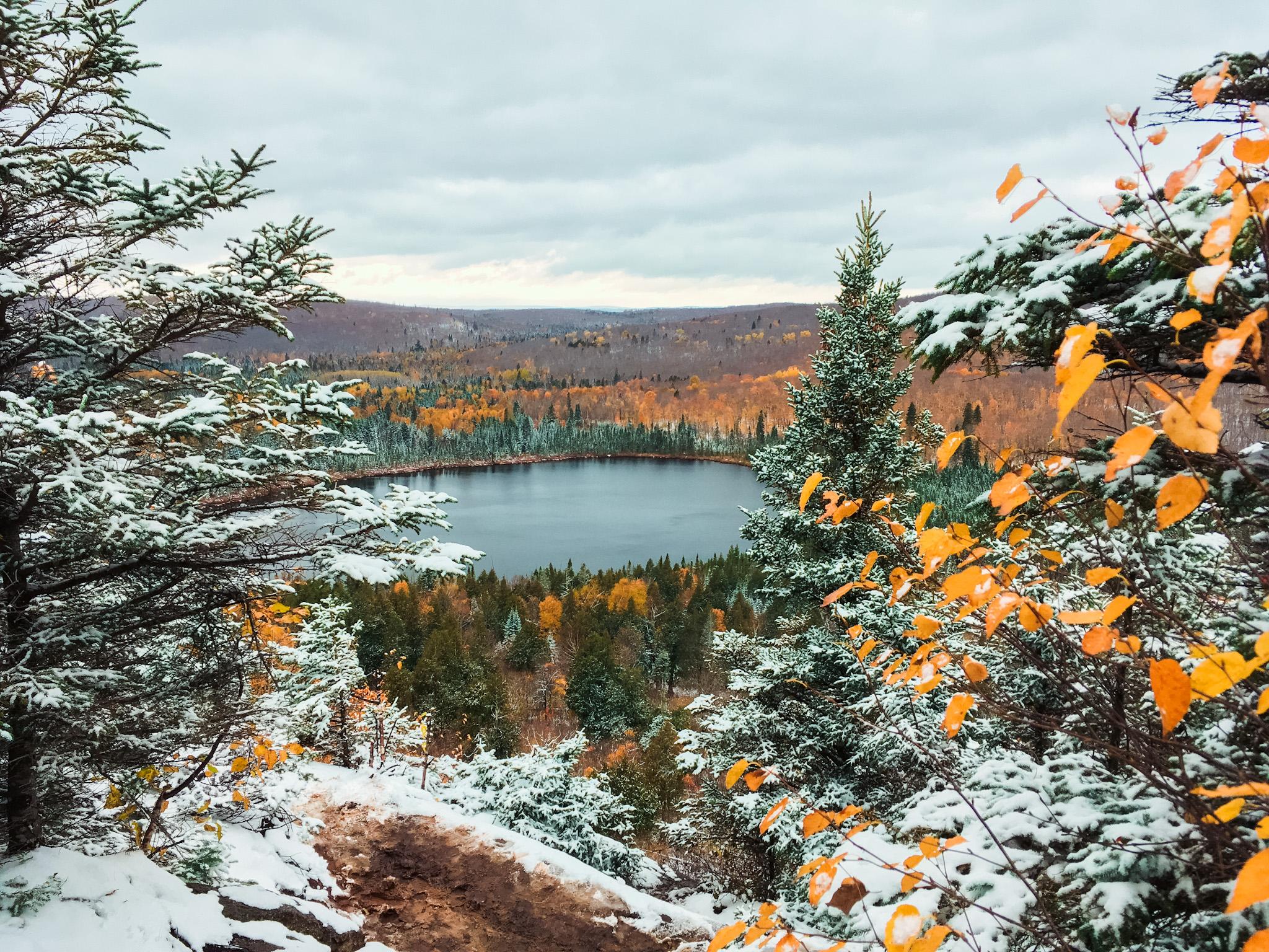 Oberg Mountain North Shore MN Fall Colors